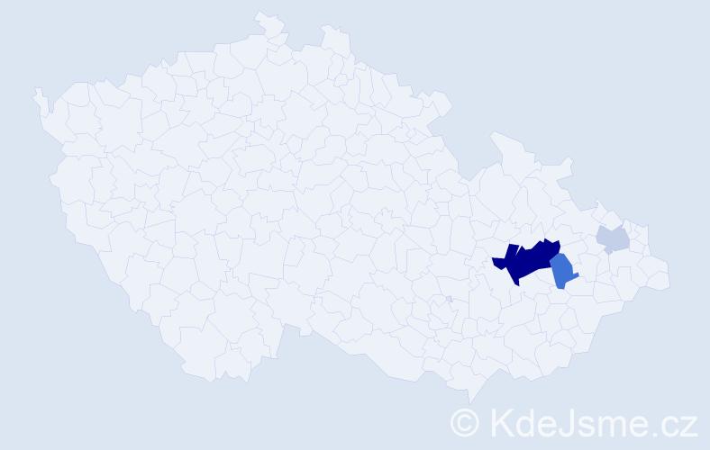 Příjmení: 'Kamburoglu', počet výskytů 8 v celé ČR