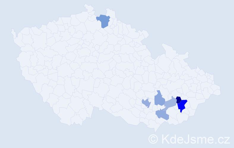 Příjmení: 'Galandr', počet výskytů 18 v celé ČR