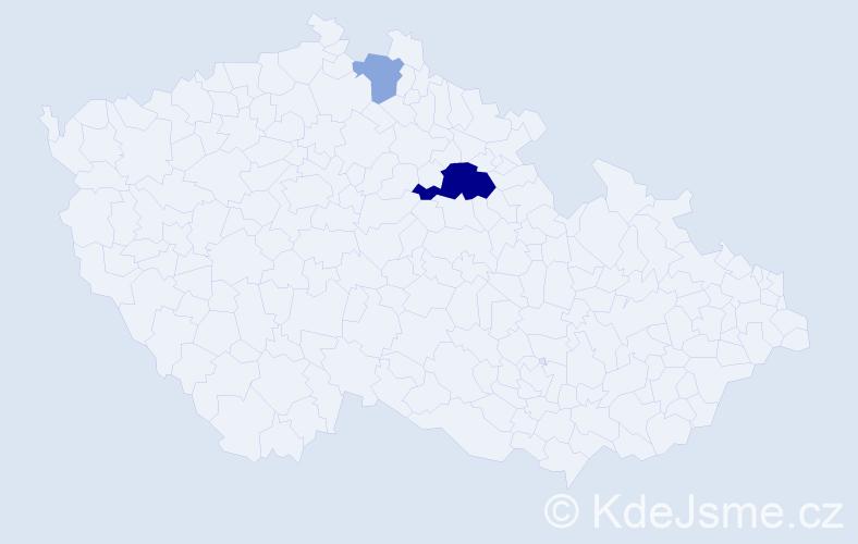 Příjmení: 'Adlaf', počet výskytů 11 v celé ČR