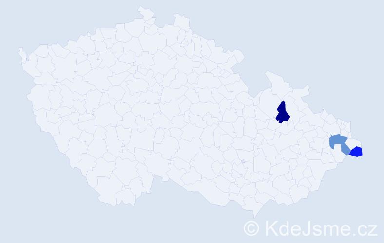 Příjmení: 'Grebenár', počet výskytů 4 v celé ČR