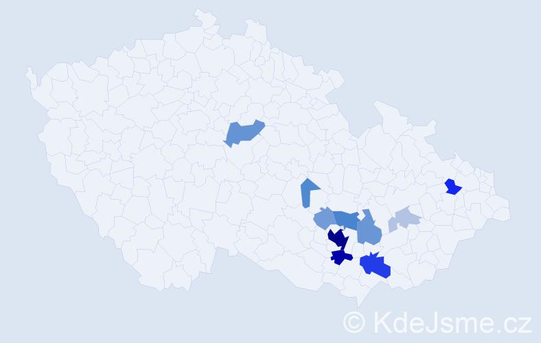 Příjmení: 'Landoriová', počet výskytů 45 v celé ČR