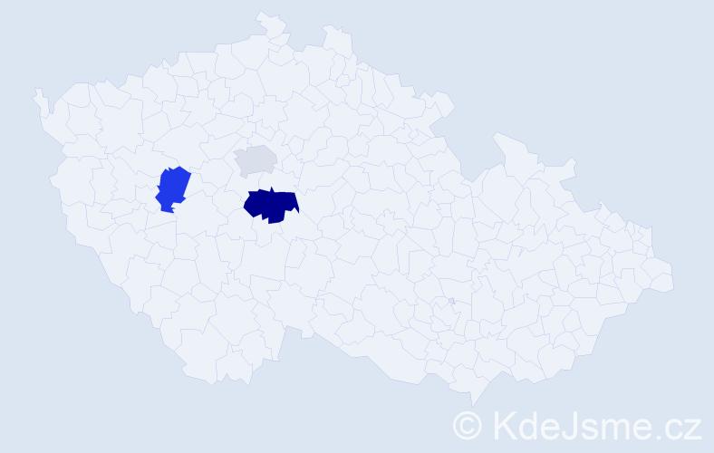 Příjmení: 'Bron', počet výskytů 15 v celé ČR