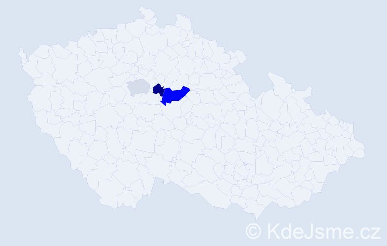 Příjmení: 'Huka', počet výskytů 6 v celé ČR