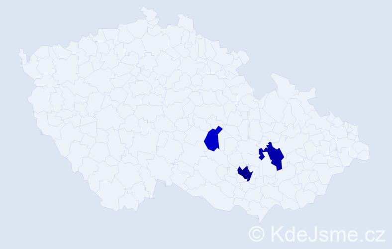 Příjmení: 'Grošovová', počet výskytů 9 v celé ČR