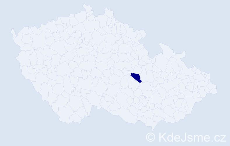 """Příjmení: '""""De Rooij""""', počet výskytů 1 v celé ČR"""
