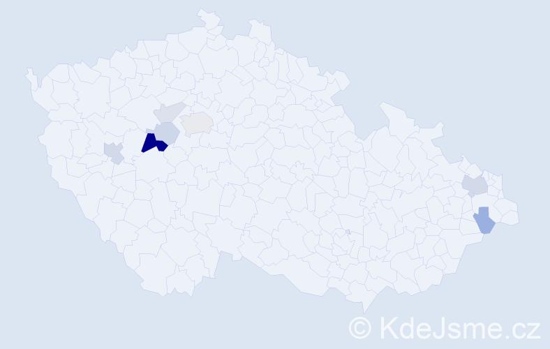 Příjmení: 'Ešková', počet výskytů 18 v celé ČR