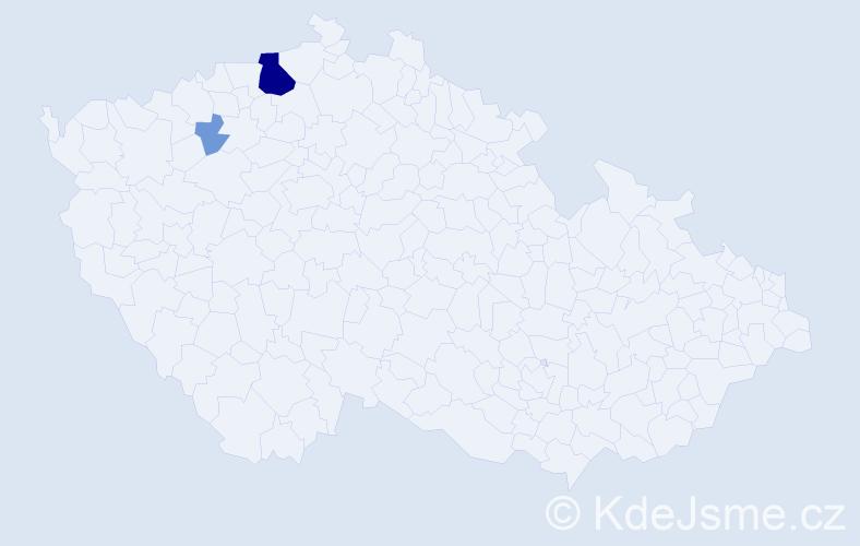 Příjmení: 'Burlák', počet výskytů 11 v celé ČR