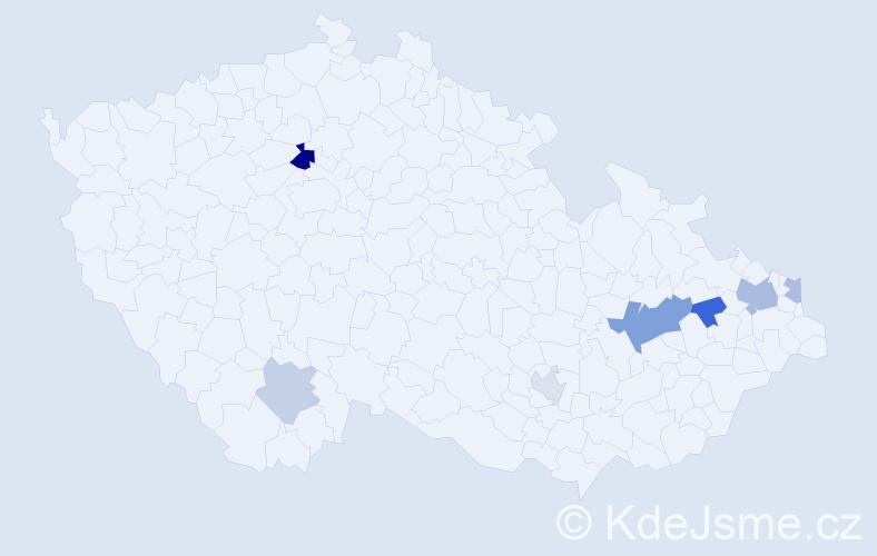 Příjmení: 'Grich', počet výskytů 13 v celé ČR