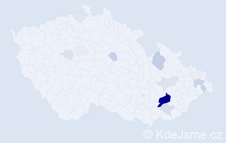 Příjmení: 'Lehkoživová', počet výskytů 48 v celé ČR