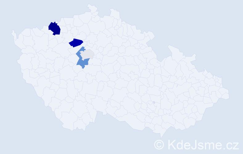 Příjmení: 'Črepová', počet výskytů 9 v celé ČR