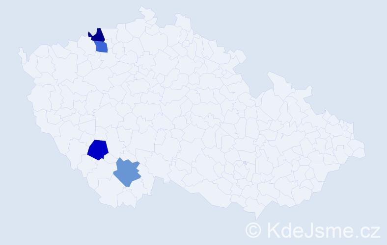 Příjmení: 'Džantovová', počet výskytů 4 v celé ČR