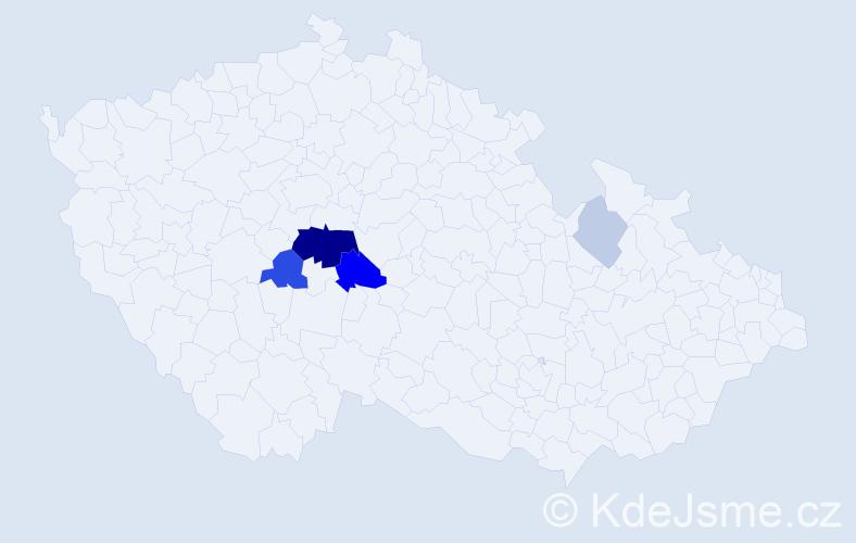 Příjmení: 'Hampeštová', počet výskytů 14 v celé ČR