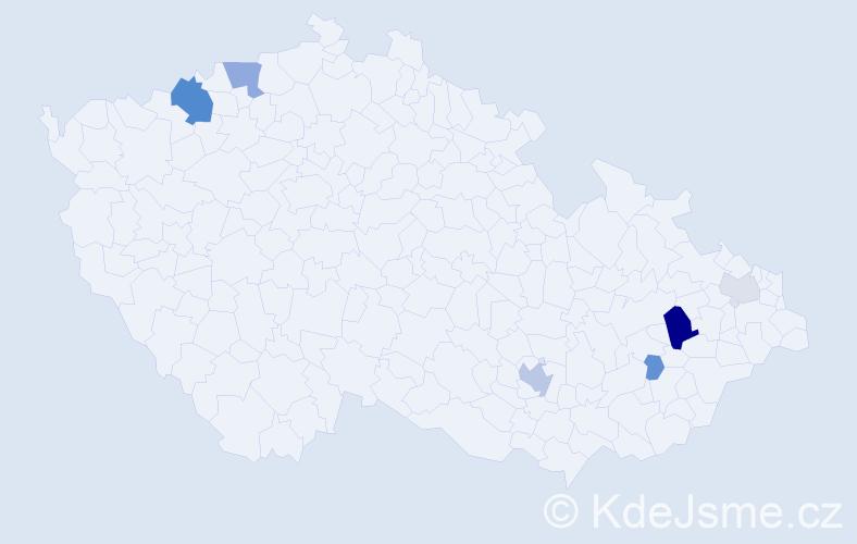 Příjmení: 'Felgenhauer', počet výskytů 15 v celé ČR