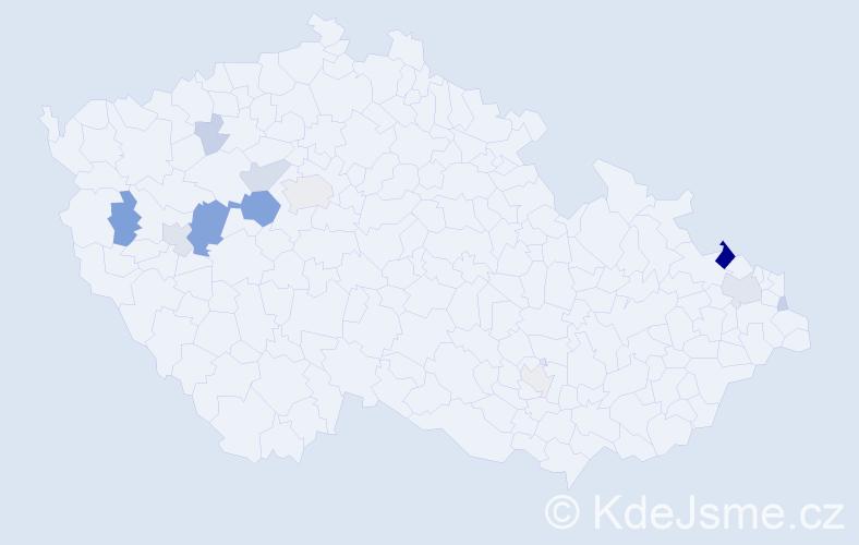 Příjmení: 'Kermesová', počet výskytů 36 v celé ČR
