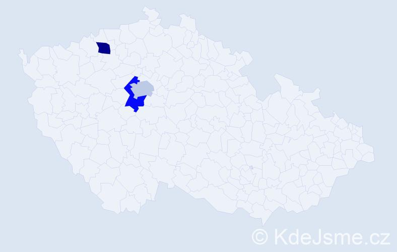 Příjmení: 'Chrapčiak', počet výskytů 3 v celé ČR