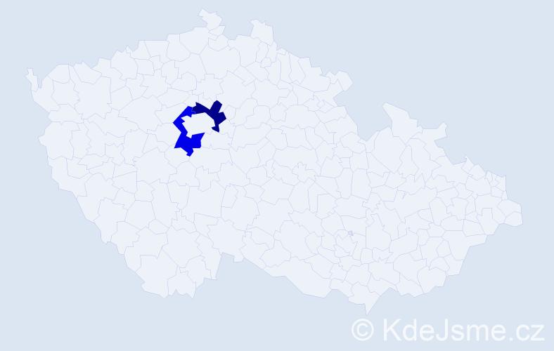 Příjmení: 'Haichová', počet výskytů 4 v celé ČR