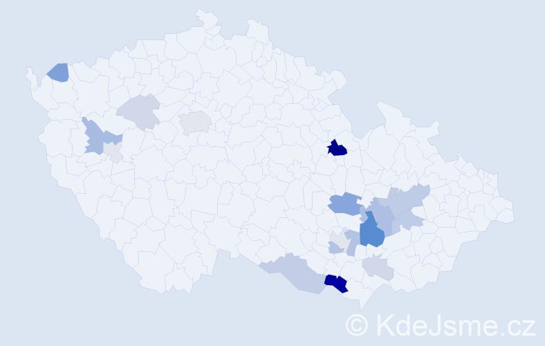 Příjmení: 'Ilgner', počet výskytů 46 v celé ČR