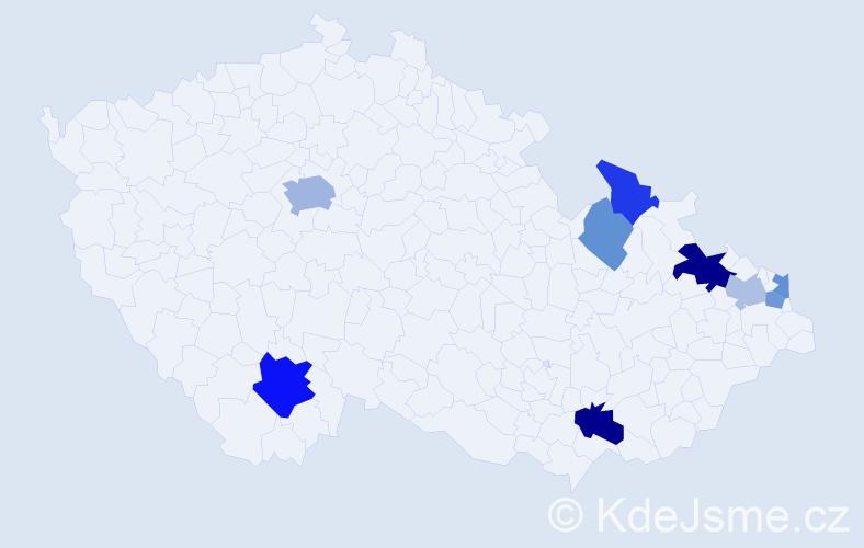 Příjmení: 'Galis', počet výskytů 17 v celé ČR