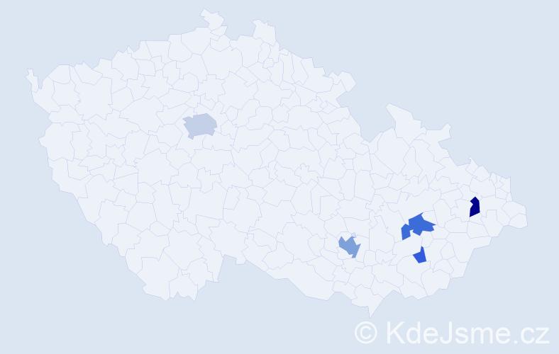 Příjmení: 'Acosta', počet výskytů 11 v celé ČR