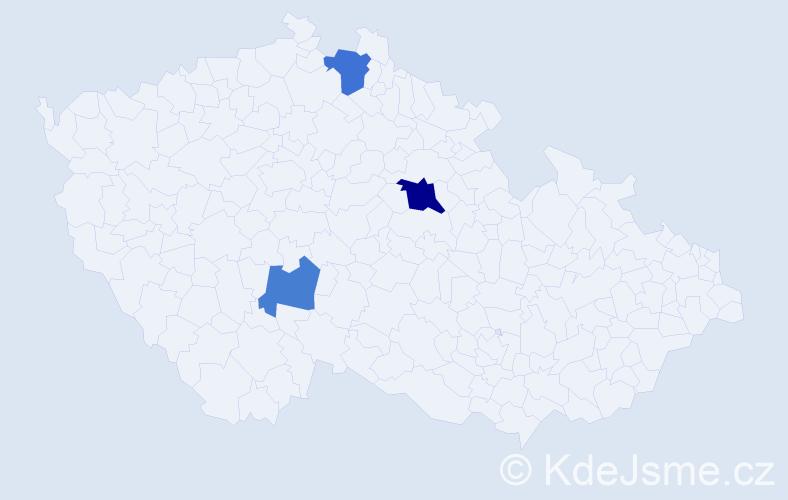 Příjmení: 'Lempach', počet výskytů 10 v celé ČR
