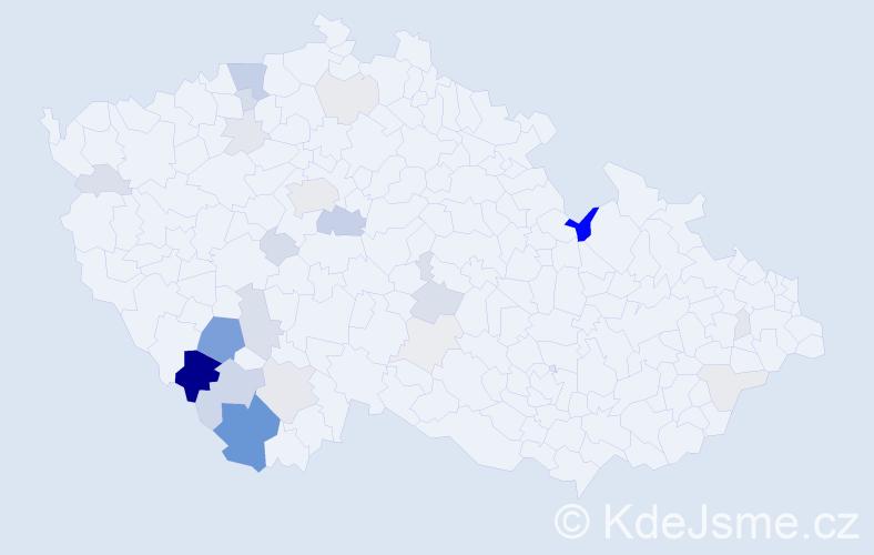 Příjmení: 'Jungvirt', počet výskytů 83 v celé ČR