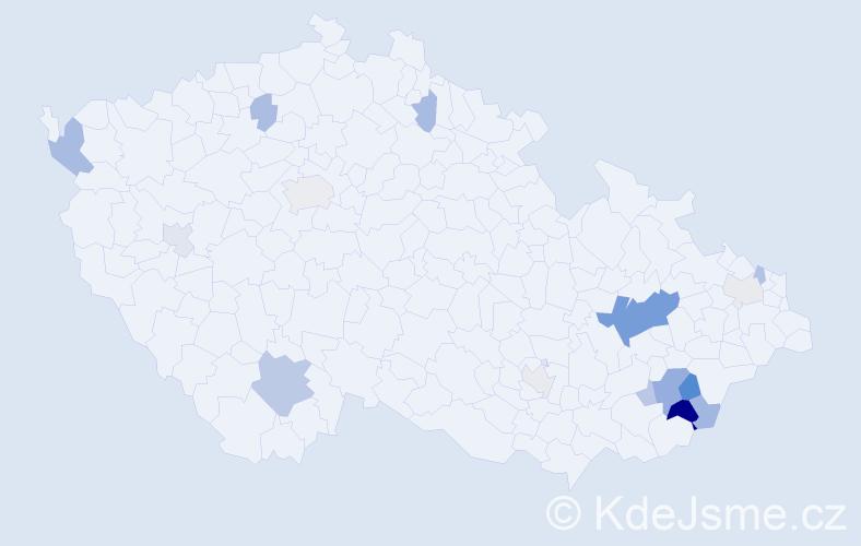 Příjmení: 'Divoková', počet výskytů 35 v celé ČR