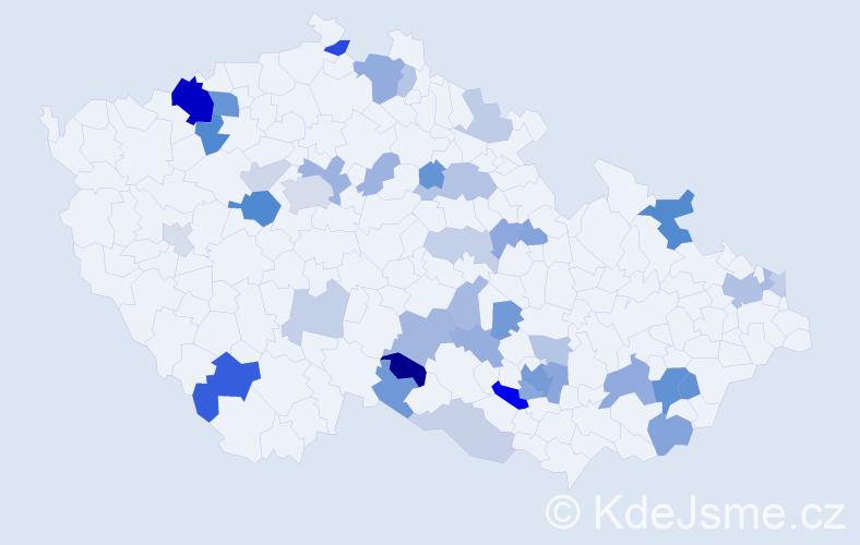 Příjmení: 'Dolníková', počet výskytů 94 v celé ČR