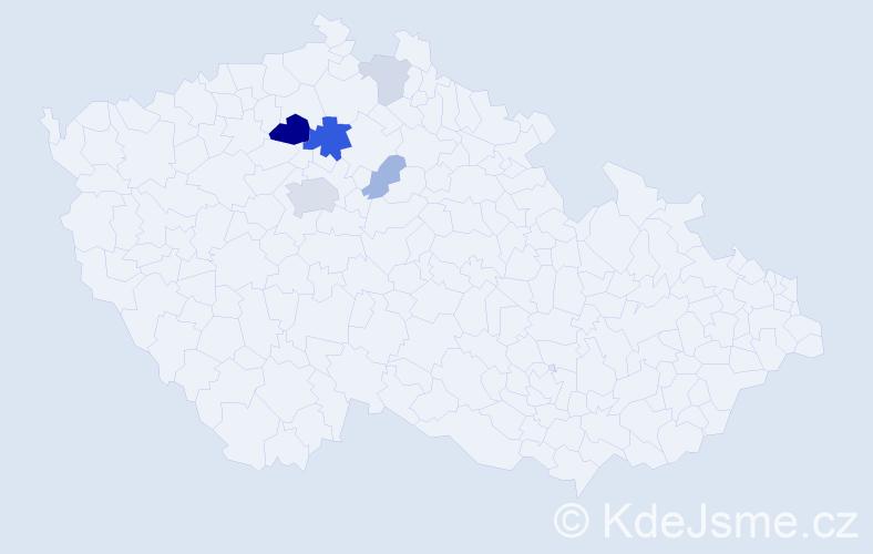 Příjmení: 'Fíčková', počet výskytů 16 v celé ČR