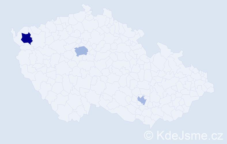 Příjmení: 'Horárová', počet výskytů 6 v celé ČR