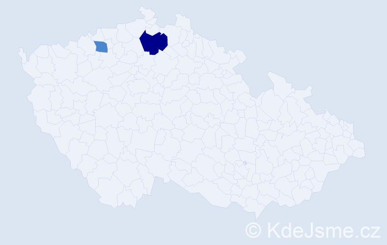 Příjmení: 'Guseová', počet výskytů 3 v celé ČR