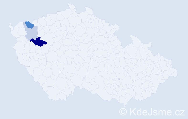 Příjmení: 'Halilovová', počet výskytů 6 v celé ČR