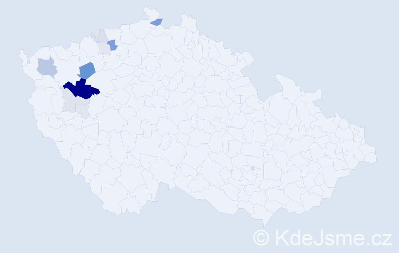 Příjmení: 'Domabyl', počet výskytů 29 v celé ČR
