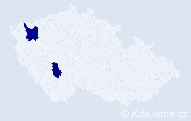 Příjmení: 'Ďurkovová', počet výskytů 5 v celé ČR