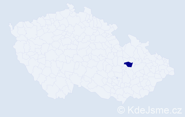 Příjmení: 'Kmeco', počet výskytů 1 v celé ČR