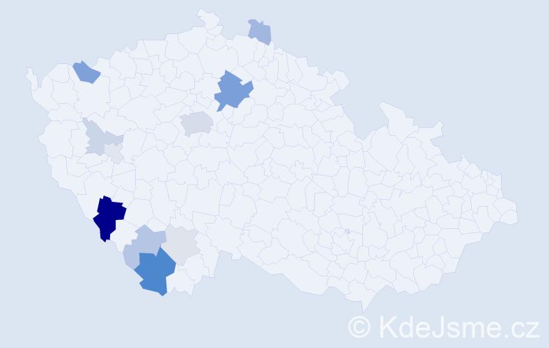 Příjmení: 'Wudy', počet výskytů 33 v celé ČR