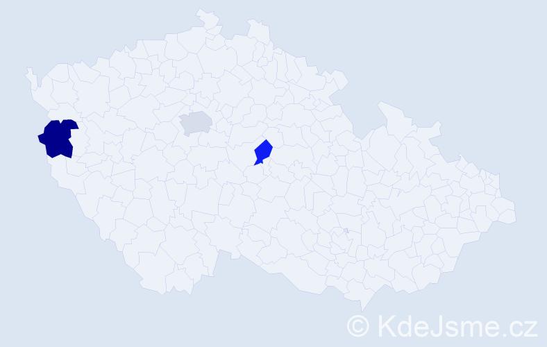 Příjmení: 'Havašová', počet výskytů 5 v celé ČR