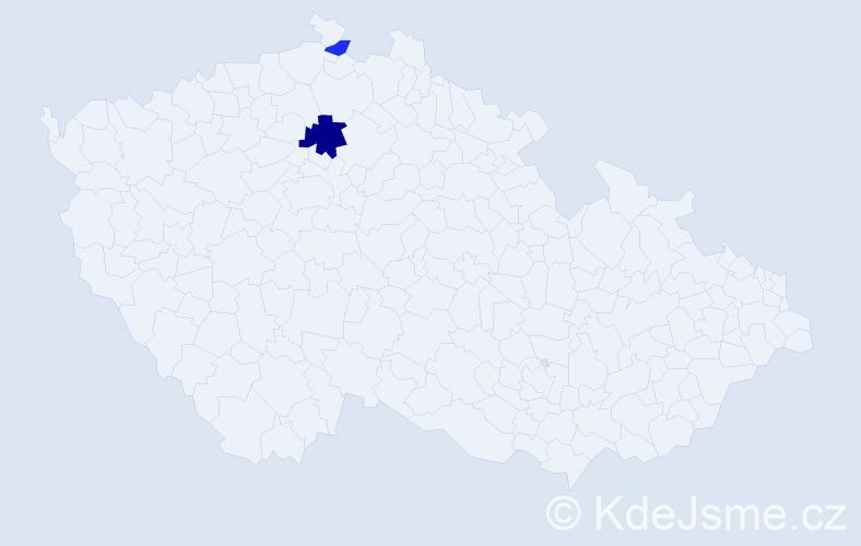 Příjmení: 'Kunfront', počet výskytů 4 v celé ČR