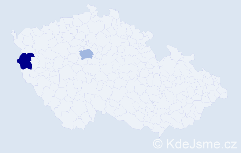 Příjmení: 'Gerstl', počet výskytů 4 v celé ČR
