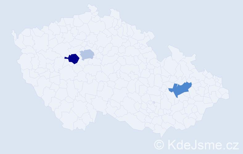 Příjmení: 'Komolý', počet výskytů 7 v celé ČR