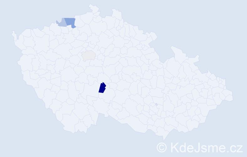 Příjmení: 'Hentschlová', počet výskytů 9 v celé ČR