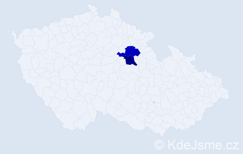 Příjmení: 'Cuberka', počet výskytů 6 v celé ČR