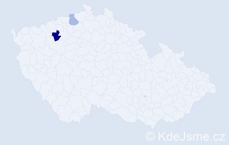 Příjmení: 'Eliaşová', počet výskytů 3 v celé ČR
