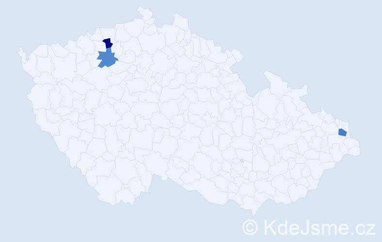 Příjmení: 'Babilonský', počet výskytů 4 v celé ČR