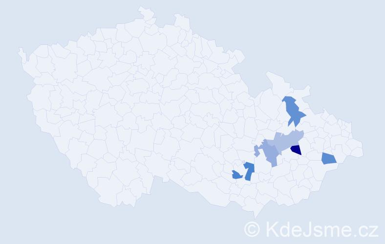 Příjmení: 'Lepaříková', počet výskytů 7 v celé ČR