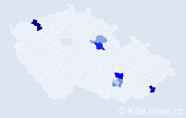 Příjmení: 'Fabuš', počet výskytů 12 v celé ČR