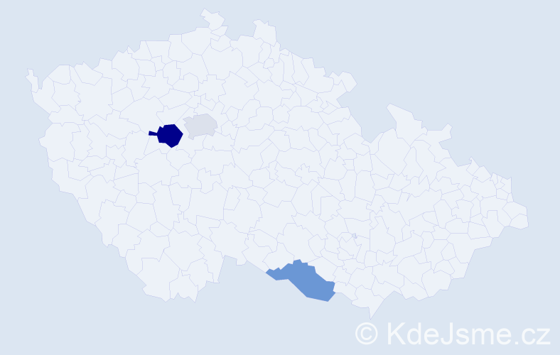 Příjmení: 'Iliašová', počet výskytů 4 v celé ČR