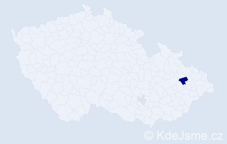 Příjmení: 'Hadrazi', počet výskytů 3 v celé ČR