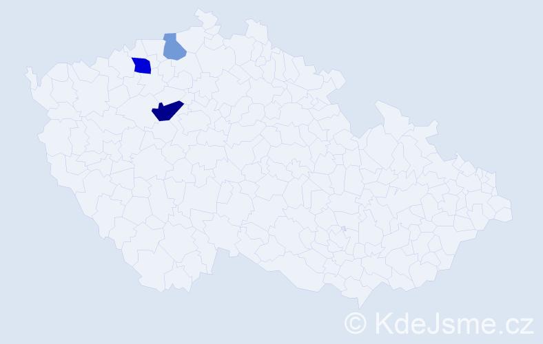Příjmení: 'Grásl', počet výskytů 6 v celé ČR