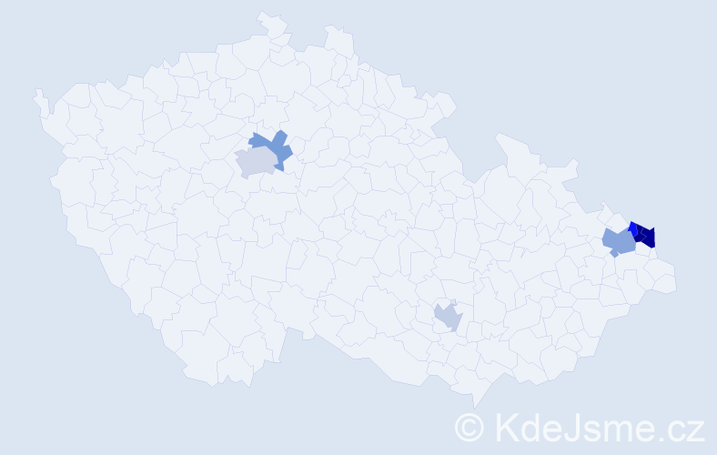 Příjmení: 'Babarík', počet výskytů 12 v celé ČR