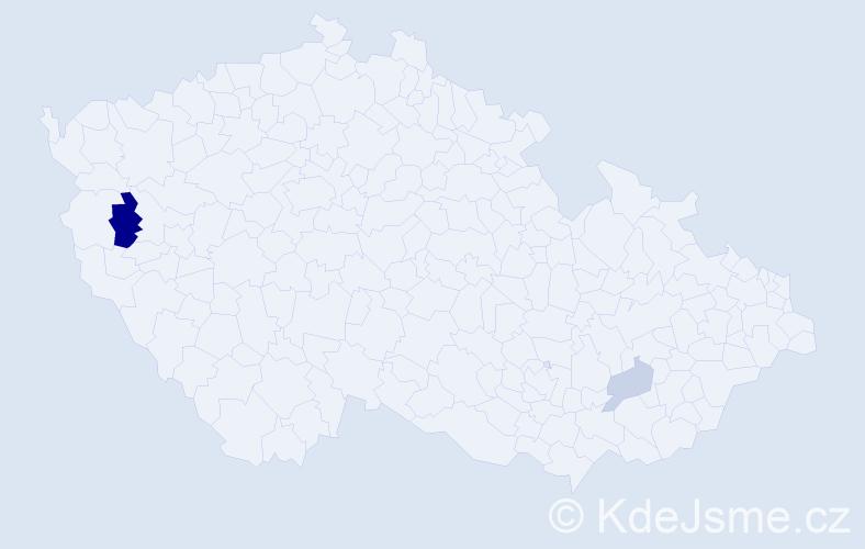 Příjmení: 'Hönicke', počet výskytů 4 v celé ČR